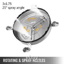 22 Pressure Power Washer Rotary Flat Surface Patio Cleaner 4000psi 3/8 Connect