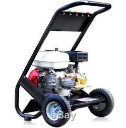 2500PSI Easy Start Petrol Power Pressure Jet Washer Brass Pump With Gun Hose Sal