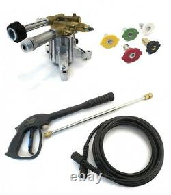 2800 PSI Upgraded AR PRESSURE WASHER PUMP & SPRAY KIT Excell XLVR2522 A07908