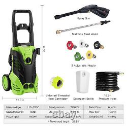 3000PSI/150 BAR Electric Pressure Washer Water High Power Jet Wash Patio Car New