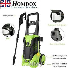 3000 PSI/150 BAR Electric Pressure Washer Jet Patio Water High Power Wash 2000W