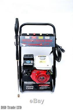 3000 Psi 6.5hp Petrol Power Pressure Washer 200 Bar
