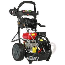 3950 PSI Petrol Pressure Washer High Power Cleaner with Quick-Connect Spray Tips