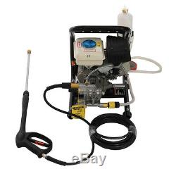 3.0HP Petrol Power Pressure Jet Washer Cleaner Portable 90BAR/1300PSI + Gun Hose