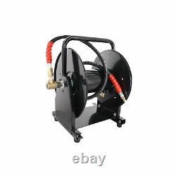 5000 PSI 3/8 x 200' Hose Reel for High Pressure Power Washer and Sewer Jetter