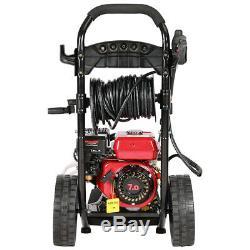 7HP Petrol Pressure Washer Cleaner 20M Hose High Power Straight J Lances 3950PSI