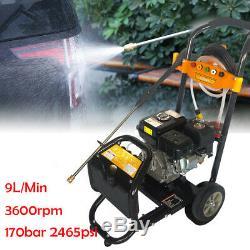7.5HP Petrol Pressure Washer 2465PSI /170 BAR POWER JET CLEANER OHV Engine DHL