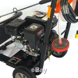 7.5 HP / 3600 RPM 2465PSI Gas Power Portable High Pressure Washer Cleaner 170Bar
