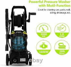 COOCHEER 2600PSI 1600W Electric Pressure Washer Great Power Jet Patio Car Clean