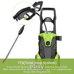 COOCHEER 3000PSI/150BAR Electric Pressure Washer Water Power Jet Wash Patio Car