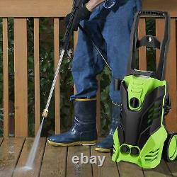 COOCHEER Electric Pressure Washer 3000PSI Water High Power Jet Wash Patio Car UK