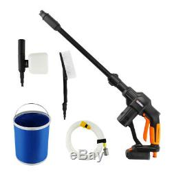 Cordless Pressure Washer Power Cleaner Portable 130PSI with 1.8A Battery & Charger