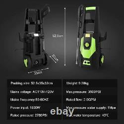 Electric High Power Pressure Washer 3500 PSI 2.4GPM Water Cleaner Patio Car Jet