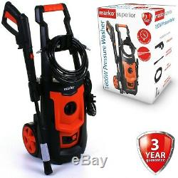 Electric High Pressure Washer 1885 PSI 130 BAR Power Jet Water Patio Car Cleaner