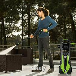 Electric High Pressure Washer 3500PSI Power Jet Water Patio Car Cleaner Green