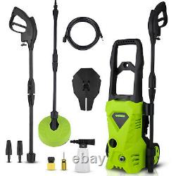 Electric Pressure Washer 2500PSI 1600W Jet Cleaner Garden & Patio Car Powerful