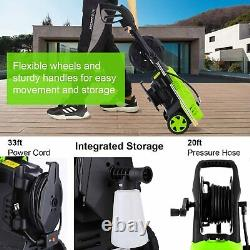 Electric Pressure Washer 2600PSI 1600W High Power 135 bar Jet Cleaner Patio Car