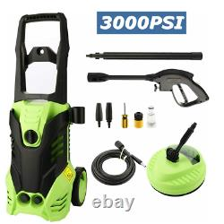 Electric Pressure Washer 3000PSI/1.8GPM Water High Power Jet Wash Patio Car Home