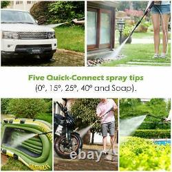 Electric Pressure Washer 3000PSI Water High Power IPX5 Jet Wash Patio Car Garden