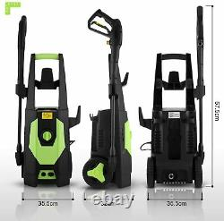 Electric Pressure Washer 3500PSI / 1800 W Water High Power Jet Wash Patio Car UK