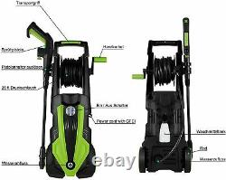 Electric Pressure Washer 3500PSI/1900W Water High Power Jet Wash Patio Car Green