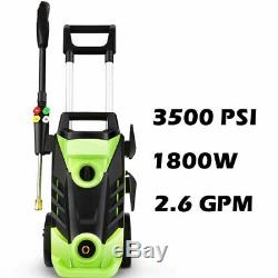 Electric Pressure Washer 3500 PSI 2.6GPM Water High Power Jet Wash Patio Car