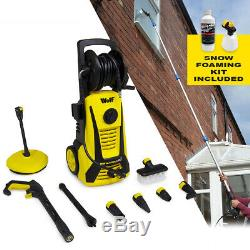 Electric Pressure Washer with Sky Lance Foam Kit 2400psi Water Jet High Power