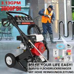 High Pressure Washer 300PSI/220BAR Petrol Power Jet Car Wash Cleaner 10M Hose
