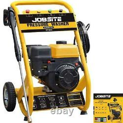 Jobsite Petrol Pressure Washer 2200 PSI 6.5HP High Power Jet 4 Stroke Garden Car