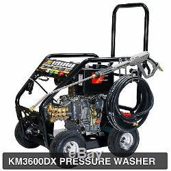 Kiam KM3600DX 3600PSI 10HP Diesel Pressure Power Jet Washer Cleaner Turbo Nozzle