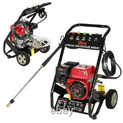 Mobile Petrol Powered High Power Pressure Jet Washer 2200PSI with8m Pressure Hoses