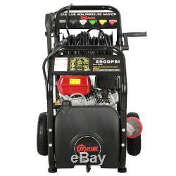 Petrol Power High Pressure Jet Washer Cleaner 2200PSI 7HP Engine Spray Gun Hose