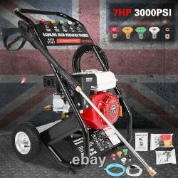 Petrol Power High Pressure Washer 3000PSI Power Jet Wash Patio Car Cleaner UK