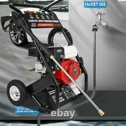 Petrol Power Pressure Jet Washer 3000PSI 6.5HP Engine With Gun Hose UK
