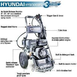 Petrol Pressure Washer 2800psi 8.75L/min Jet Washer Cleaner Hyundai HIGH POWER