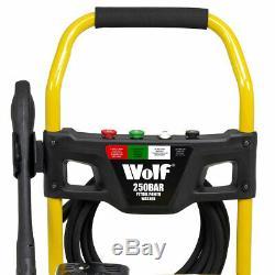 Petrol Pressure Washer 3700psi 250bar 7HP Petrol Driven Jet Power Washer Wolf