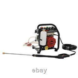 Portable 110bar Petrol High Power Pressure 8m Jet Washer Engine 1590psi & Barrel