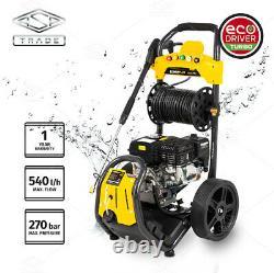 Power Plus Pressure Washer 3900PSI/270BAR Petrol Jet Power Car Wash Cleaner