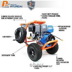 Powerful Petrol Pressure Washer 4200 PSI 290 BAR + Rotary Cleaner 20 Inch