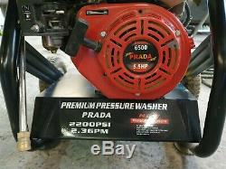 Prada 6500 mobile power/jet washer variable pressure 5.5hp 2200PSI