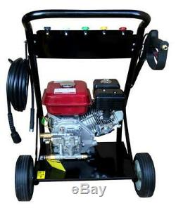Progen Petrol Power Pressure Jet Washer 2500psi Engine With Gun Hose Easy Start