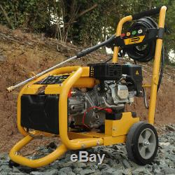Rocwood Petrol Pressure Power Washer ELECTRIC START 3000 PSI 8HP Jet Washer