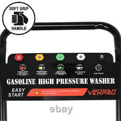VEHPRO Petrol Power Pressure Jet Washer 3000PSI 6.5HP Engine With G-un Hose
