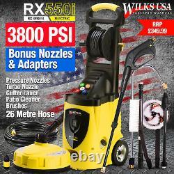 WILKS-USA RX550 Electric High Power Pressure Washer 3800PSI Power Jet Wash