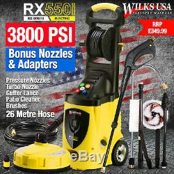 Wilks-USA Electric Pressure Washer 3800PSI Power Jet washer for Patio RX550i