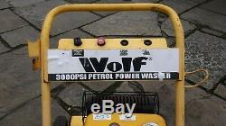 Wolf 4 Stroke Petrol Power Washer 3000 Psi 6.5hp Jet Pressure Cleaner Car Bike