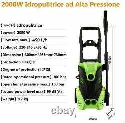 1800w Lave-pression Électrique 3000psi/150bar Water High Power Jet Wash Patio Uk