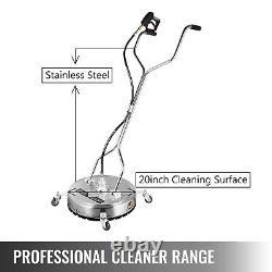 20 Pression Laveuse Rotatif Plat Surface Patio Cleaner 4000psi 3/8 Qc
