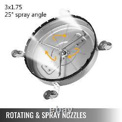 22 Laveuse De Pression Rotary Flat Surface Patio Cleaner 4000psi 3/8 Connectez-vous