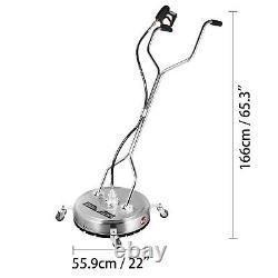 22 Pression Laveuse Rotatif Plat Surface Patio Cleaner 4000psi 3/8 Connect
